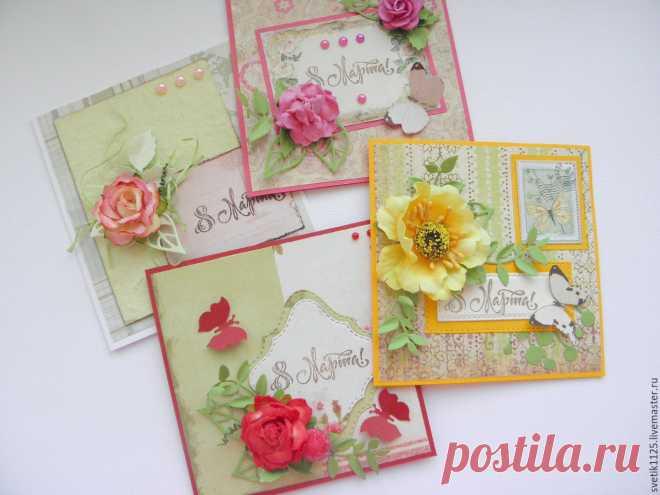 Отдых, открытки ручной работы на 8 марта фото