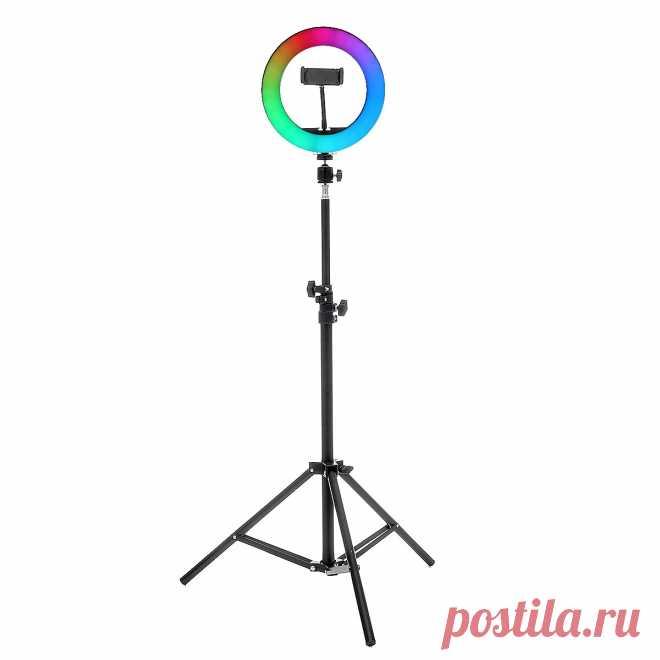 8/10inch 360° Adjustment RGB LED Ring Light Full Color LED Selfie Fill Light Ph - US$19.99
