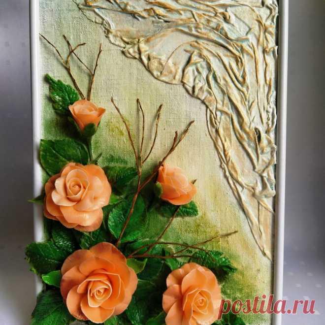 """Картина """"Розы"""" ручной работы"""