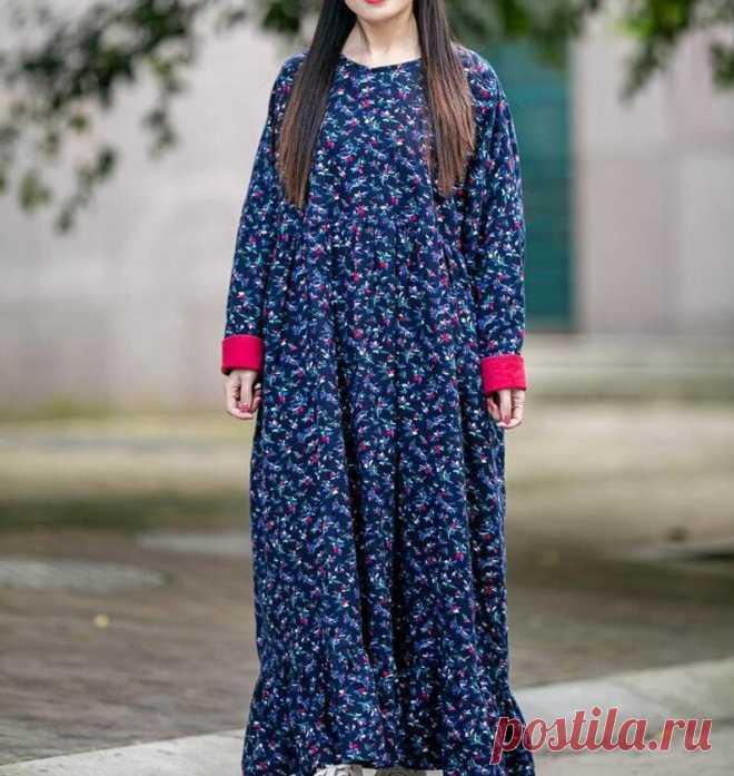 Women longsleeves dress Vintage Dresses plus size dresses   Etsy