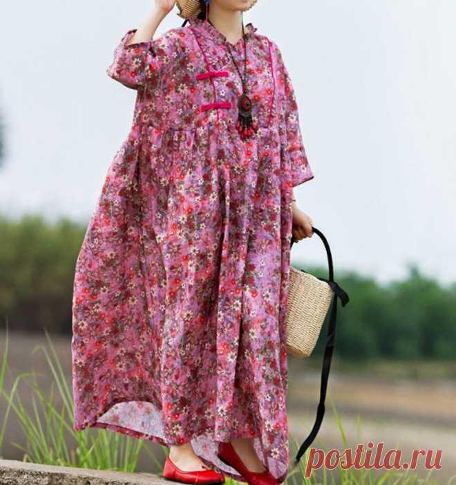 Summer pink long Linen dress Linen Full length dress Prom | Etsy