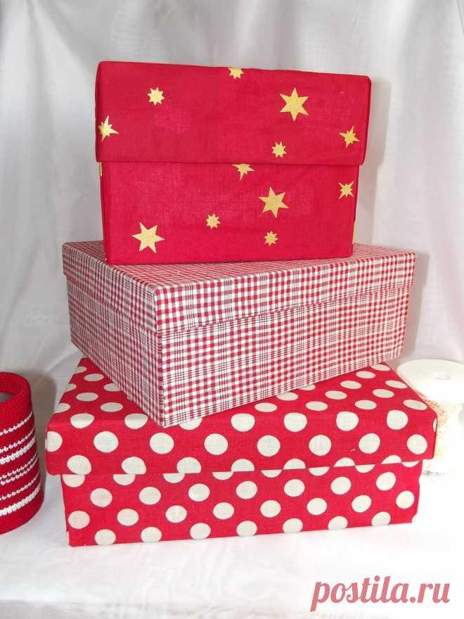 коробка для подарка из тектиля
