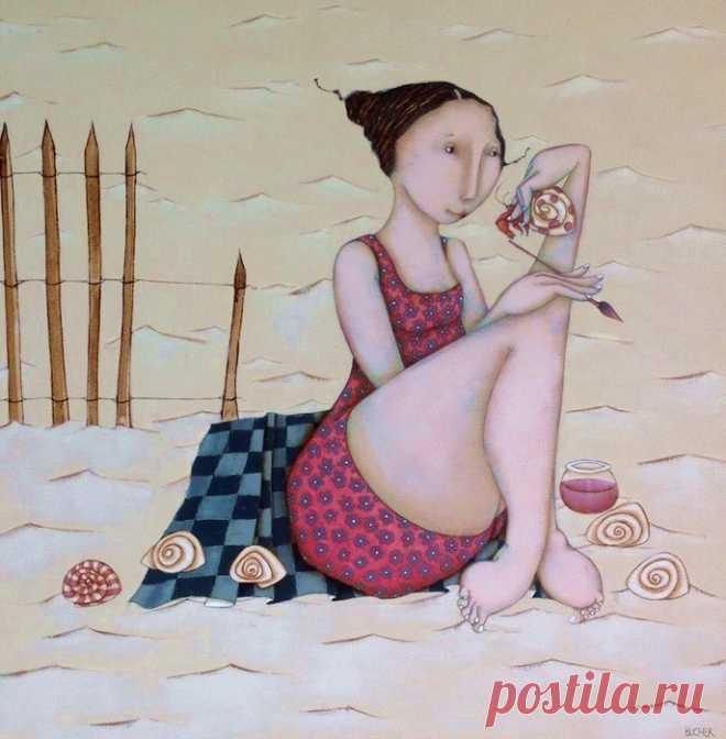 Французская художница-иллюстратор Magalie Bucher.