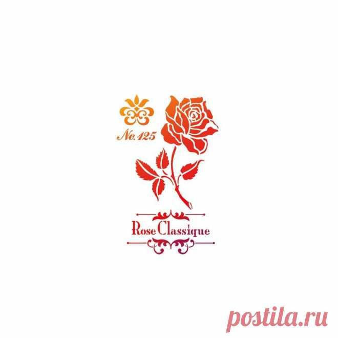 sjabloon - rozen - 21X30 cm
