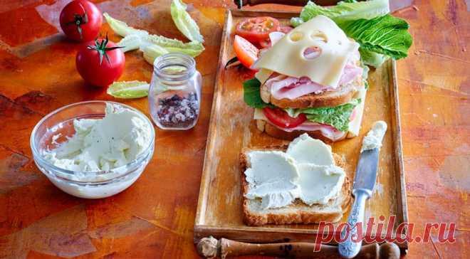 Большой сэндвич с окороком и сыром - Все обо Всем