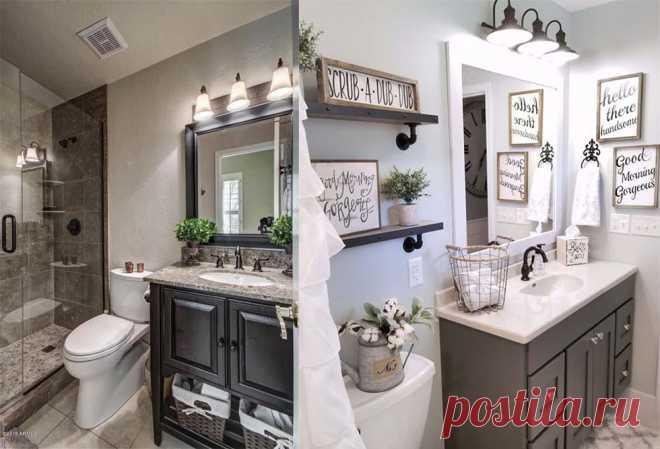 дизайн маленькой ванной комнаты 2018 фото 7