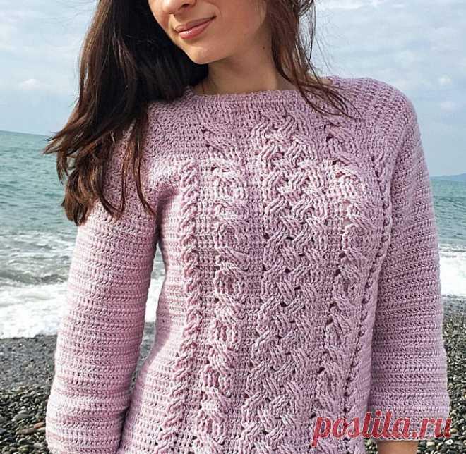 Симпатичный узор для пуловера крючком