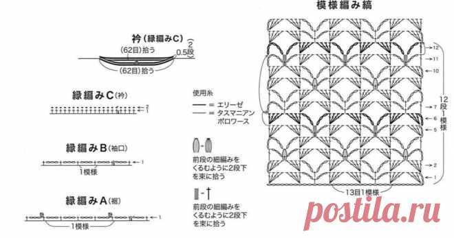 Пленительные летние японские вещички крючком и схемы к ним. | Вязалки Веселого Хомяка | Яндекс Дзен