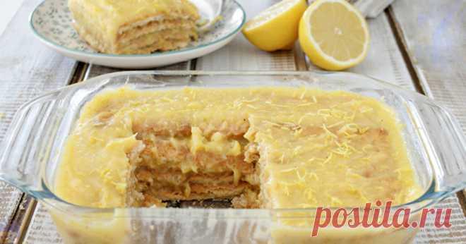 Ленивый торт без выпечки: 10 минут на готовку, час на пропитку!