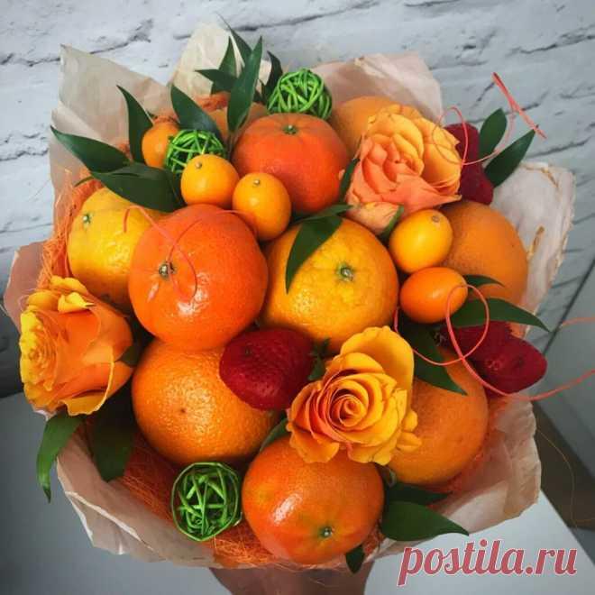Букет из мандаринов: идеи новогодних подарков ~ ALL-DEKOR
