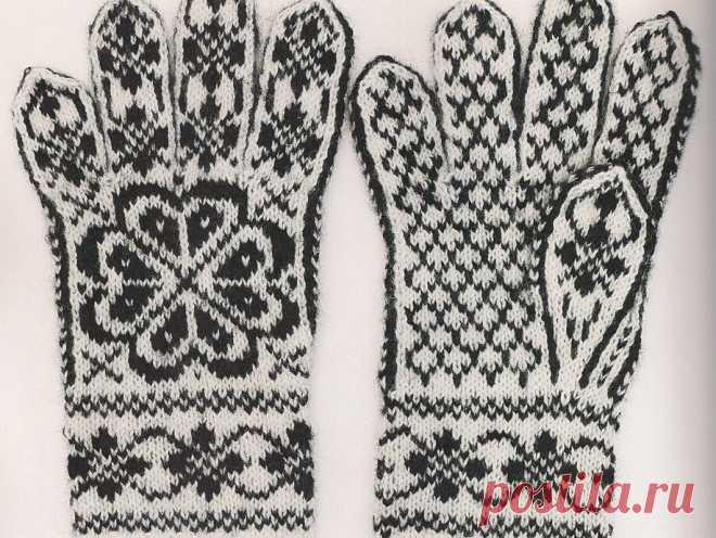 Варежки и перчатки с орнамент. Много идей и схем