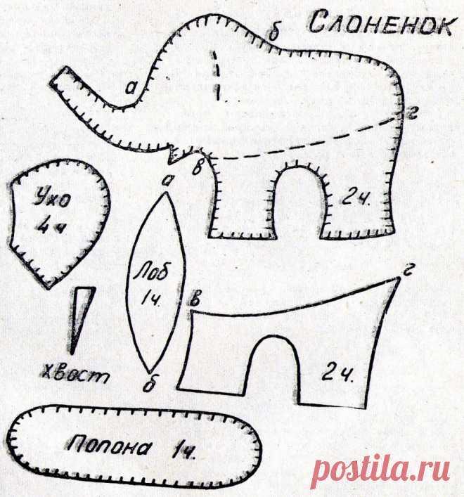 Los juguetes suaves por las manos: los patrones del perrito, el liebre, el erizo y el elefantito | las Ideas para la familia | la Costura: el bordado, la labor de punto, el tejido, la costura, la fabricación de los muebles