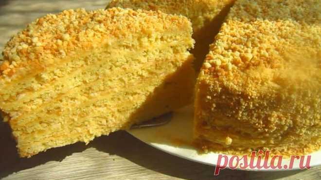 Вкуснейший домашний торт с яблочным кремом! Очень мягкий и нежный!