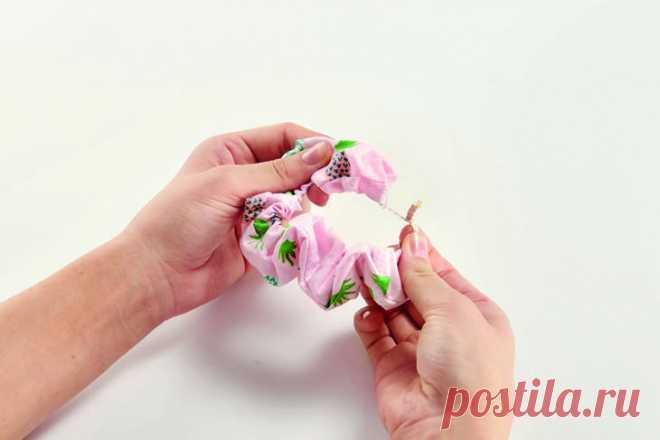 Как сшить резинку для волос
