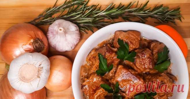 Вкуснейшая свининка в сливочно-луковом соусе Автор: tastyspace
