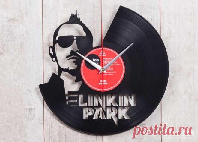 Часы из виниловой пластинки «Линкин Парк» купить подарок в ArtSkills: фото, цена, отзывы