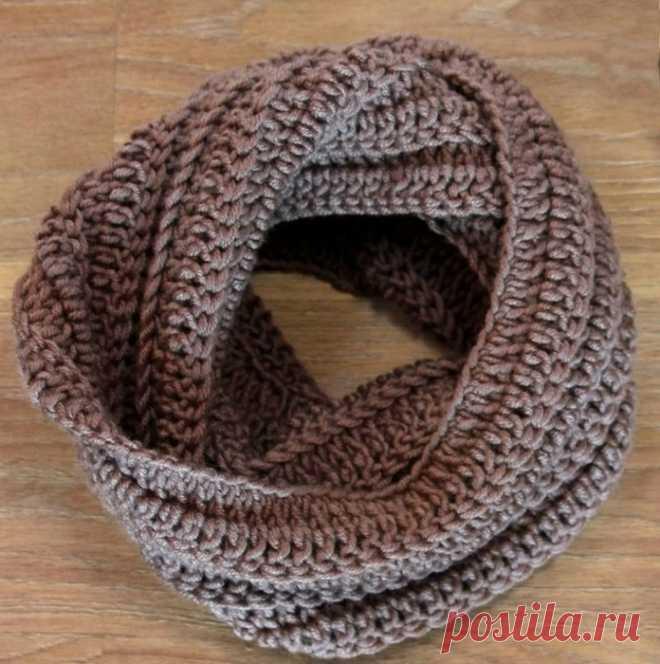 оригинальный мужской шарф снуд крючком вязание для мужчин постила