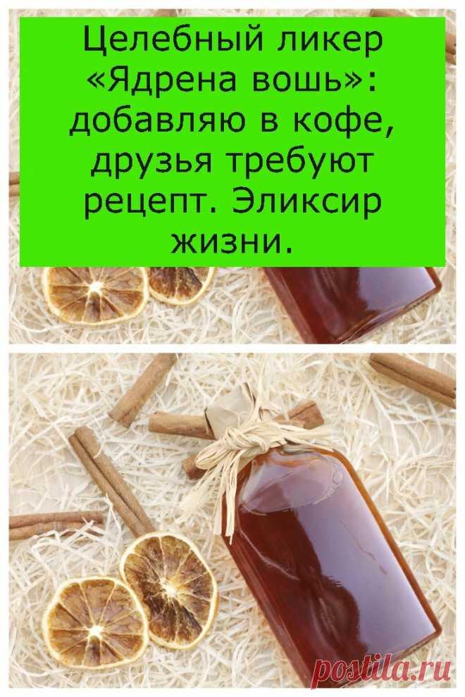 Целебный ликер «Ядрена вошь»: добавляю в кофе, друзья требуют рецепт. Эликсир жизни. - ukr