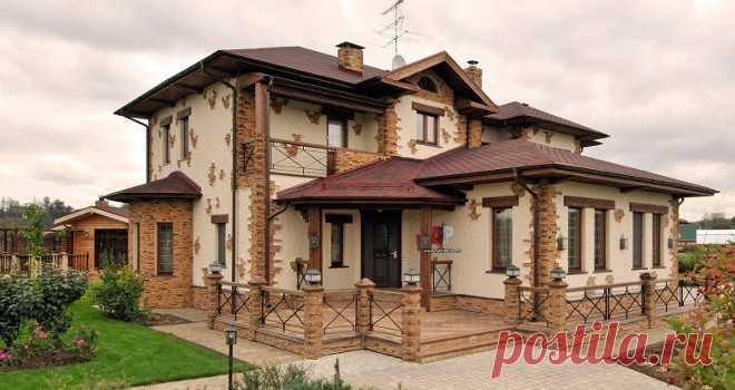 Отделка дома камнем - эксклюзивный интерьер