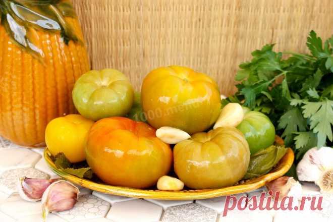 Квашеные зеленые помидоры в банке как бочковые рецепт с фото пошагово - 1000.menu
