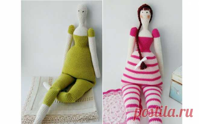 Вязаная кукла Тильда-Матильда Вязаная крючком куклаТильда-Матильда. Схема