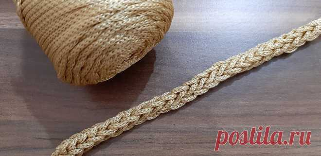 Шнур крючком на 3 петлях | Anna Gri Crochet | Яндекс Дзен