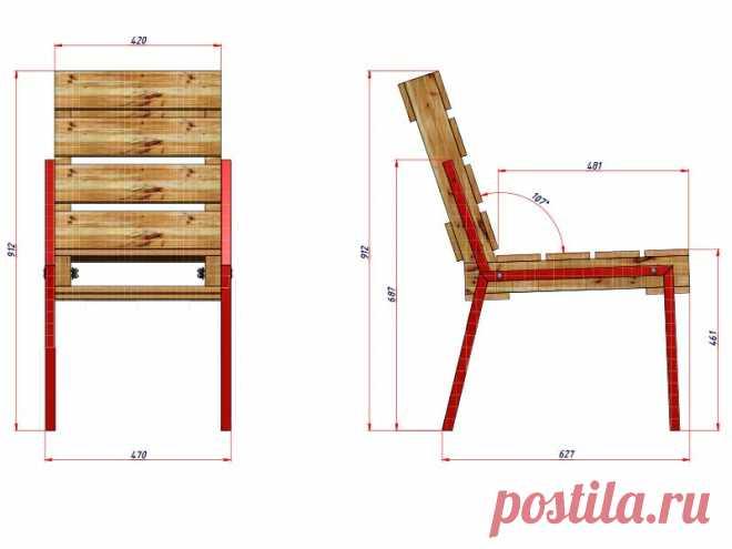 Pallet Chair_Размеры