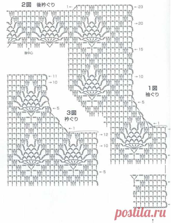 Очаровательные японские жакетики крючком и схемы.   Вязалки Веселого Хомяка   Яндекс Дзен