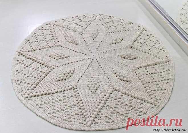 Tejemos por el gancho los tapices pequeños. 4 esquemas
