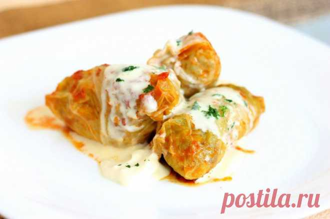 Foodclub — кулинарные рецепты с пошаговыми фотографиями - Голубцы по-закарпатски с рубленным мясом / Transcarpathian cabbage rolls with chopped meat