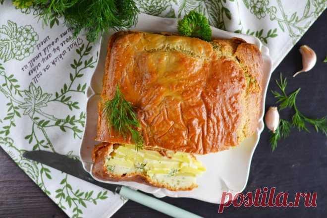 Заливной пирог с картошкой на кефире рецепт с фото пошагово и видео - 1000.menu