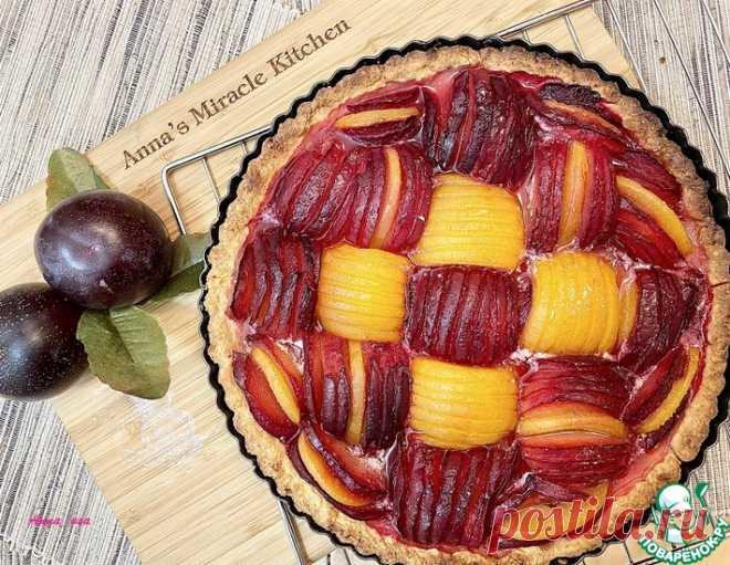 Тарт со сливами – кулинарный рецепт