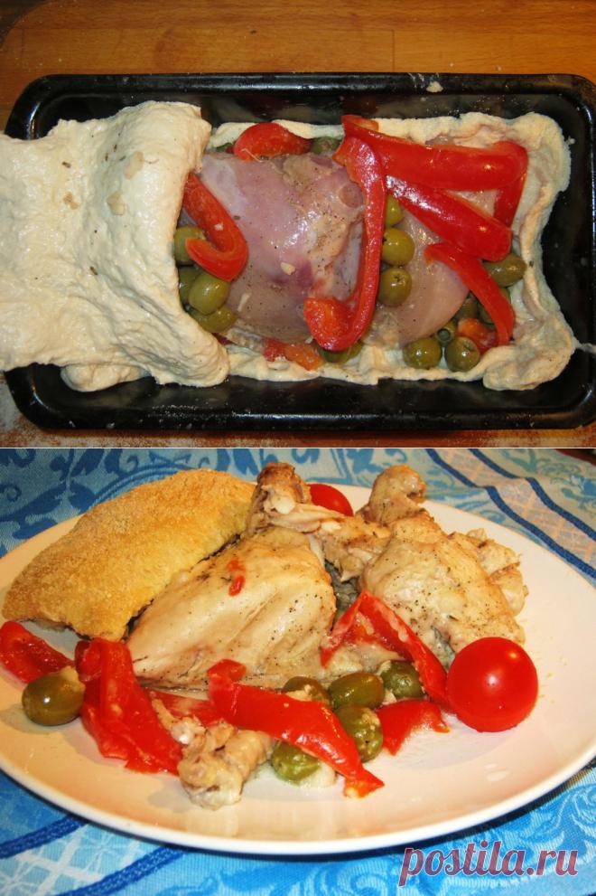 Ароматный цыпленок в тесте — Вкусные рецепты