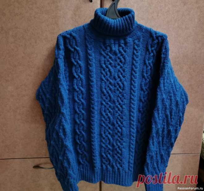 Свитер. Мой долговяз | Вязание для мужчин спицами. Схемы вязания