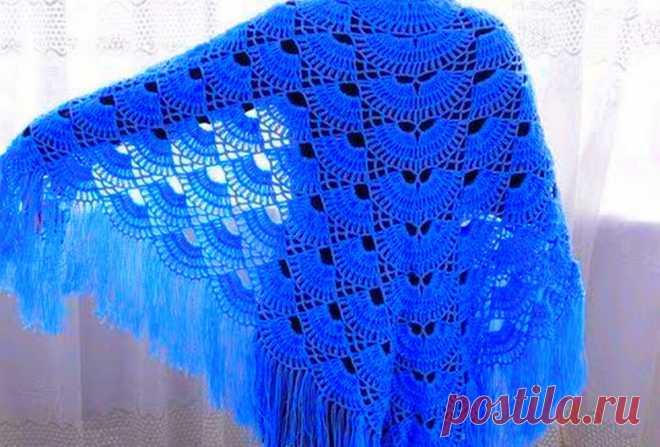Несколько красивых схем, по которым можно связать теплую и оригинальную шаль | Ольга knits спицами и крючком | Яндекс Дзен