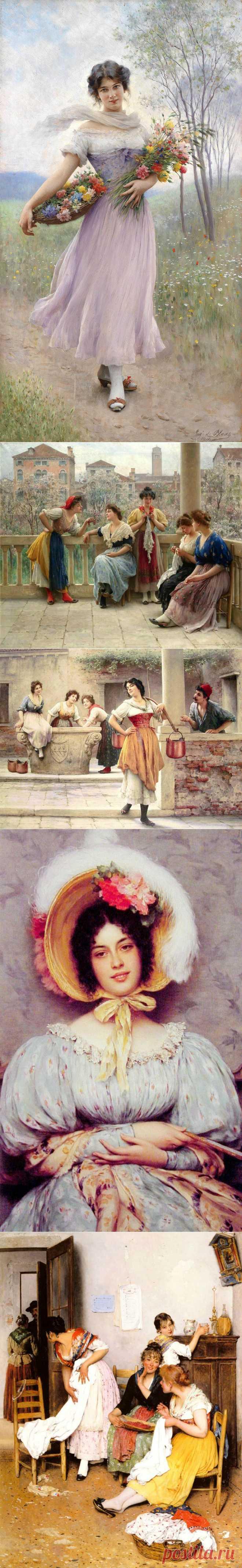 Итальянский художник Eugene de Blaas   1843-1932 гг. .