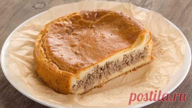 Пирог мясной по мотивам зур-белиш Необычный пирог, в котором главная особенность - тесто. Попробуйте один раз и будете делать всегда!