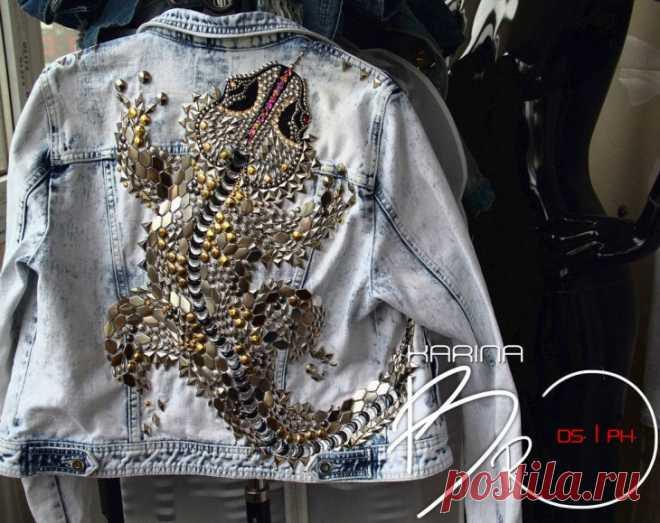 Декор на джинсовой куртке (подборка) / Курточные переделки / ВТОРАЯ УЛИЦА