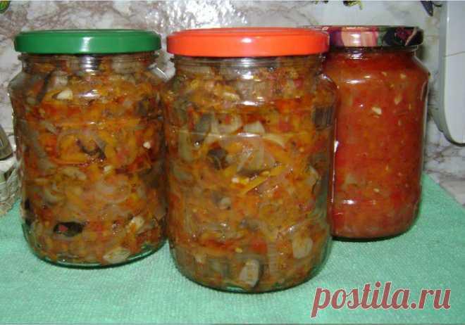 Салат с грибами на зиму (в мультиварке).