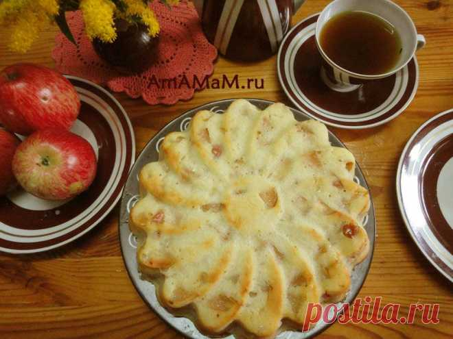 Яблочный пирог на кефире.
