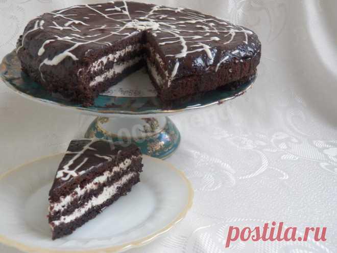 Шоколадно-творожный торт рецепт с фото пошагово - 1000.menu