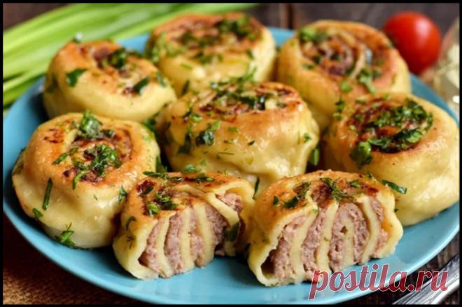 Ленивые пельмени на сковороде - очень вкусное и быстрое блюдо!