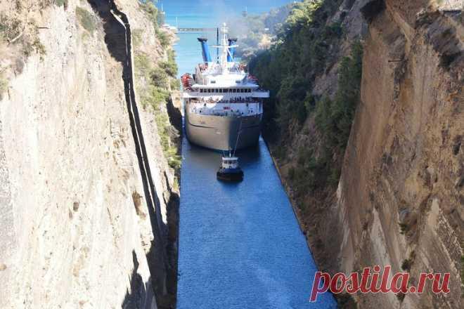 Самый узкий в мире канал для кораблей . Чёрт побери