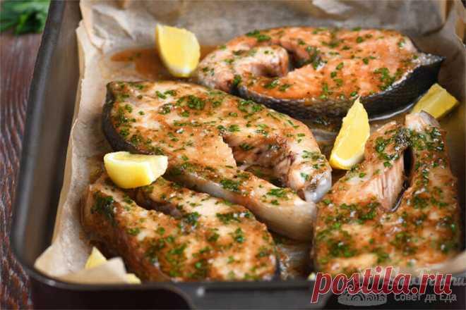 Запеченная рыба с чесночным соусом. Вкус потрясающий! | Совет да Еда | Яндекс Дзен