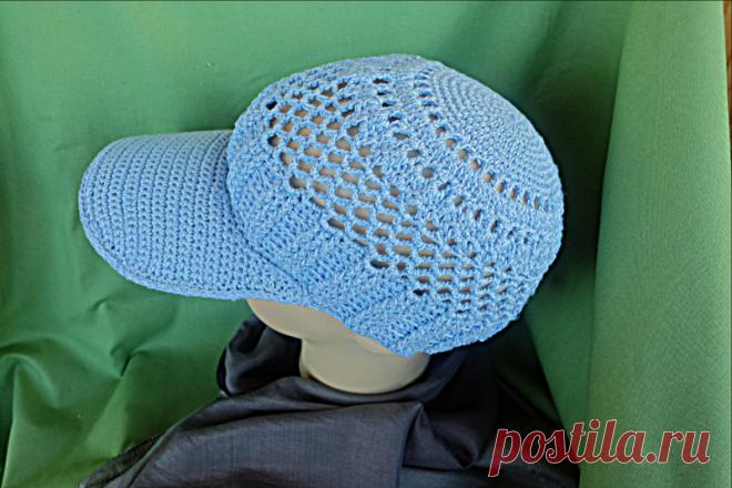 Кепка вязаная крючком ручной работы  #вязаниекрючком #ручнаяработа #рукоделие #вязание
