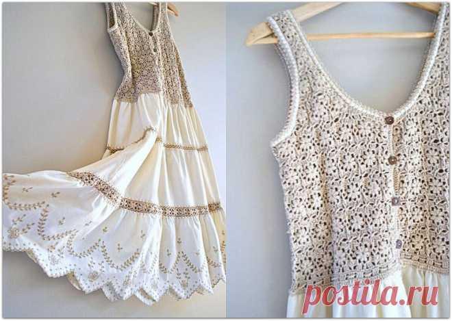 Летние рукодельные идеи: комбинируем вязание и ткань   Paradosik_Handmade   Яндекс Дзен