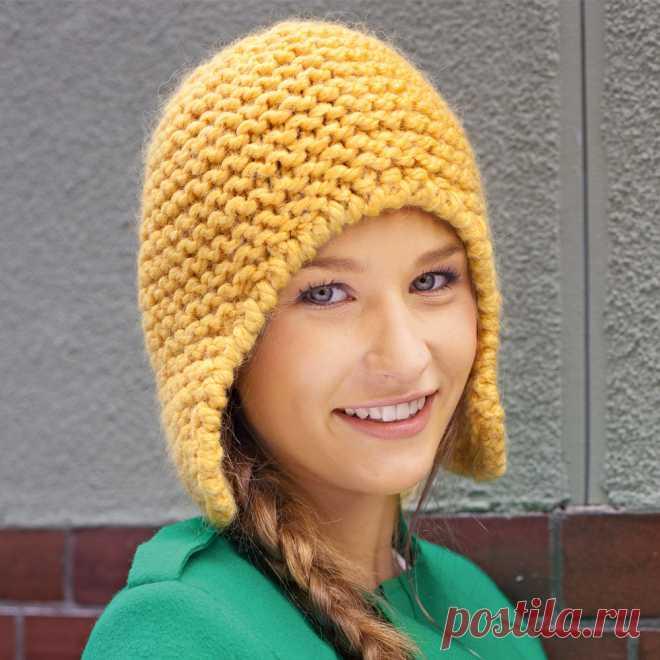 Шапка-шлем - схема вязания спицами. Вяжем Шапки на Verena.ru