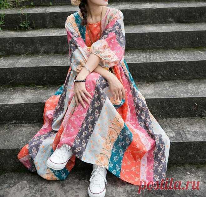 Women Full Length Dress Plus size Maxi dress loose skater | Etsy