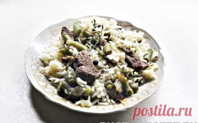Рис с говядиной и стручковой фасолью рецепт с фото пошагово Рис с говядиной и стручковой фасолью - пошаговый кулинарный рецепт приготовления с фото, шаг за шагом.