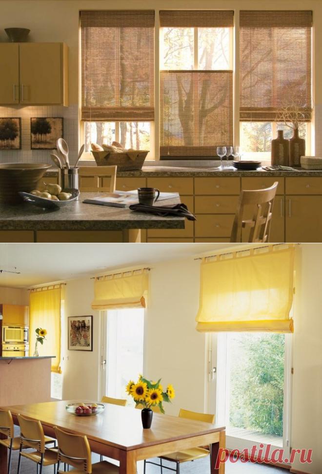 Оформление окна на кухне: как оформить кухонное окно и выбрать декор?